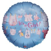 "18"" It's A Girl Clothesline Balloon"