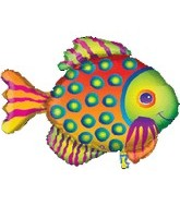 "33"" Jumbo Tropical Fish Spots Balloon"