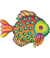 "33"" Jumbo Prismatic Fish Balloon"