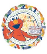 "18"" Elmo Happy Birthday Balloon Drawing"