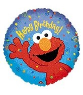 "9"" Mini Balloon (Airfill Only) Elmo Happy Birthday"