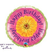 "18"" Happy Birthday Flowers Balloon"