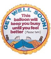 "18"" Get Well Soon Busy Balloon"