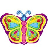 18 Rainbow Colorful Butterfly Balloon