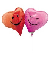 "15"" Airfill Two Hearts Smiling Balloons"