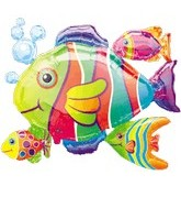 "30"" Tropical Fish Balloon Cluster"