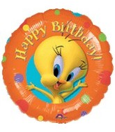 "18"" Tweety Birthday Spots Foil Balloon"