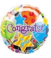 "32"" Large Congrats Jubilee Balloon"
