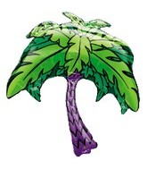 "33"" Jumbo Mylar Palm Tree Balloon"