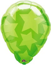 "18"" Perfect Balloon Green Stars Balloon"