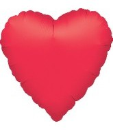 "32"" Large Balloon Metallic Red Heart"