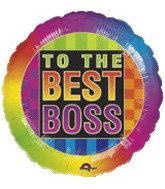 "18"" To the Best Boss Neon Balloon"