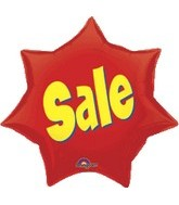 "21"" Sale Balloon Starburst Mylar"