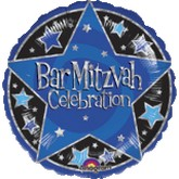 "18"" Bar Mitzvah Celebration Mylar Balloon"