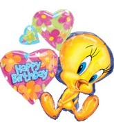 "32"" Happy Birthday Tweety Cluster"