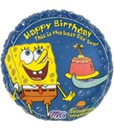 "18"" SpongeBob Balloon SquarePants Birthday"