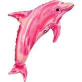 "39"" Jewel Pink See-Thru Dolphin Foil Balloon"