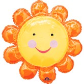 Larger Chatterbox Flower Orange Balloon