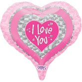 "18"" Shape Pastel I Love You Dazzlers Balloon"