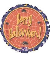 "18"" Happy Halloween Purple Border"