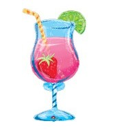 "35"" Tropical Cooler Beverage Balloon"