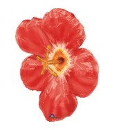 "26"" Jumbo Hibiscus Red Flower Balloon"