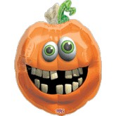 "28"" Crooked Teeth Pumpkin Balloon"