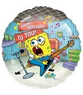 "18"" SpongeBob Balloon Happy Birthday To You"