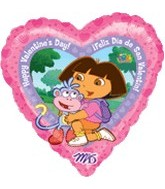 18'' Dora the Explorer Valentine Balloon