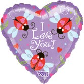 "18"" Heart Ladybugs I Love You"