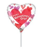 "4"" Airfill Happy Valentines Day Hearts"