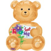 Large Shape Bear Get Well Balloon