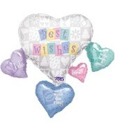 "33"" Patchwork Wedding Balloon Connext"