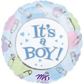 "18"" It&#39s A Boy Mylar Slight Damage Print"