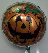 "18"" Scary Pumpkin Mylar Balloon"