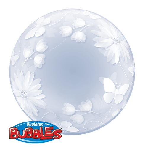 "20"" Deco Bubble Butterflies And Flowers"