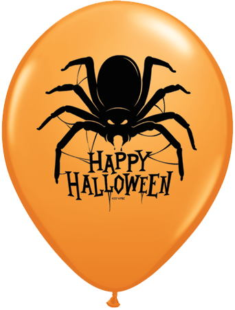 "11"" Happy Halloween Spider Balloon (50 Count)"