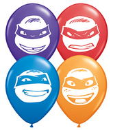 "5"" Special Assorted 100 Count Ninja Turtles Faces"