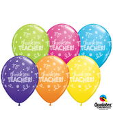 "11"" Tropical Assorted 50 Count Thank You Teacher"