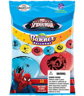 Party Banner Balloons 10 Count Ultimate Spider-Man