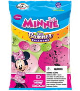 Party Banner Balloons 10 Count Minnie Mouse