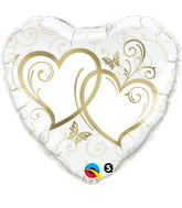 "18"" Heart Entwined Hearts Gold"