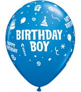 "11"" 6 Count Print Retail Pack Birthday Boy/Dk Blue"