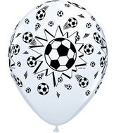 "11"" 6 Count Print Retail Pack Footballs/White"