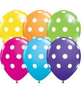 "11"" 6 Count Print Retail Pack Big Polka Dots"