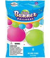 Party Banner Balloons 10 Count Bright Assorted