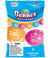 Party Banner Balloons 10 Count Birthday