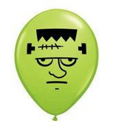 "5"" Lime Green Frankenstein Face 100 per bag"