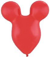 "15"" Red Mousehead Latex Balloons 50 per bag"