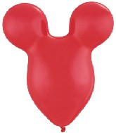 "15"" Ruby Red Mousehead Latex Balloons 50 per bag"
